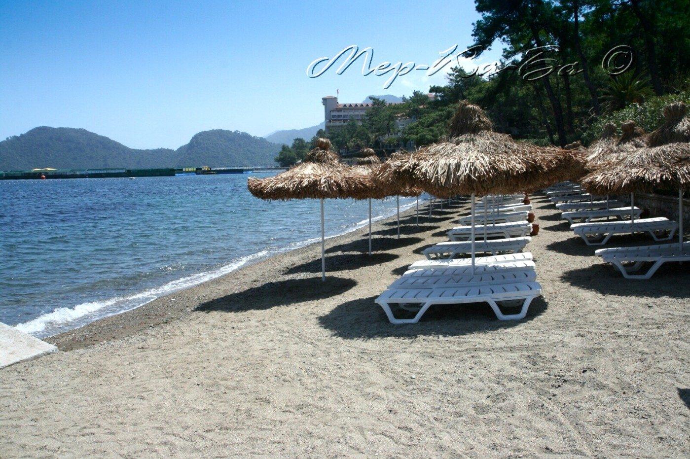 пляж отеля Grand Yazici Club Turban