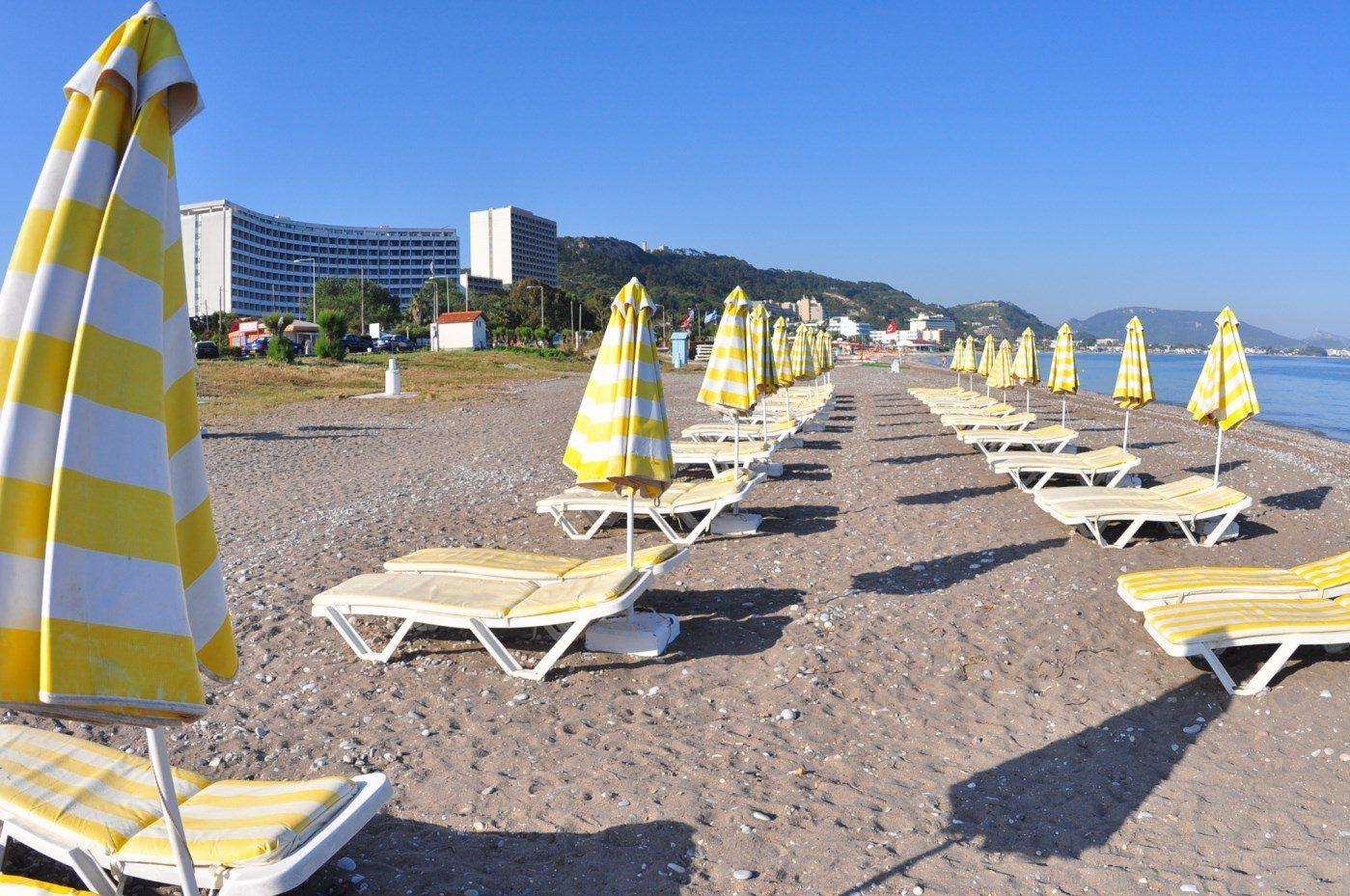 пляж отеля Atrium Platinum Luxury Resort Hotel & Spa