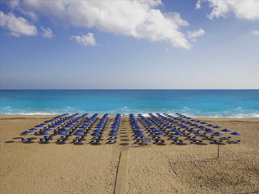 пляж отеля Aquila Porto Rethymno