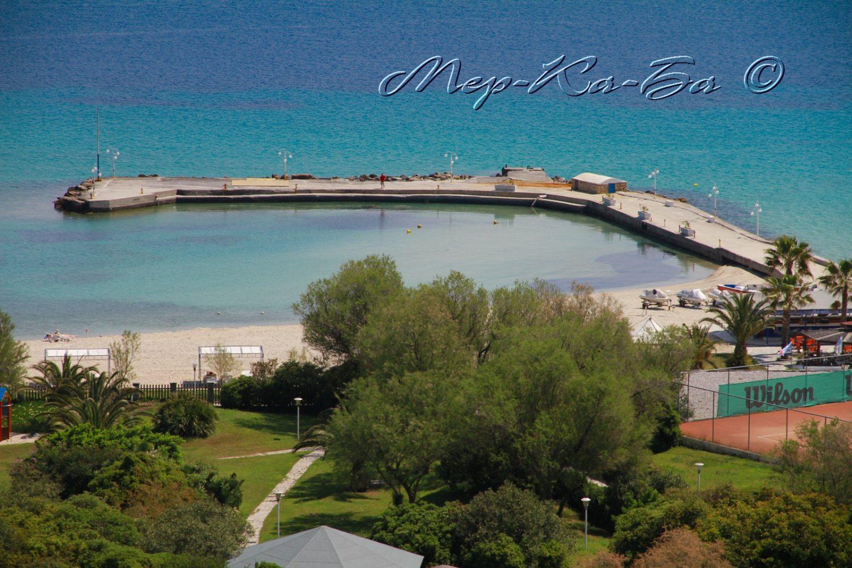 пляж отеля Athos Palace