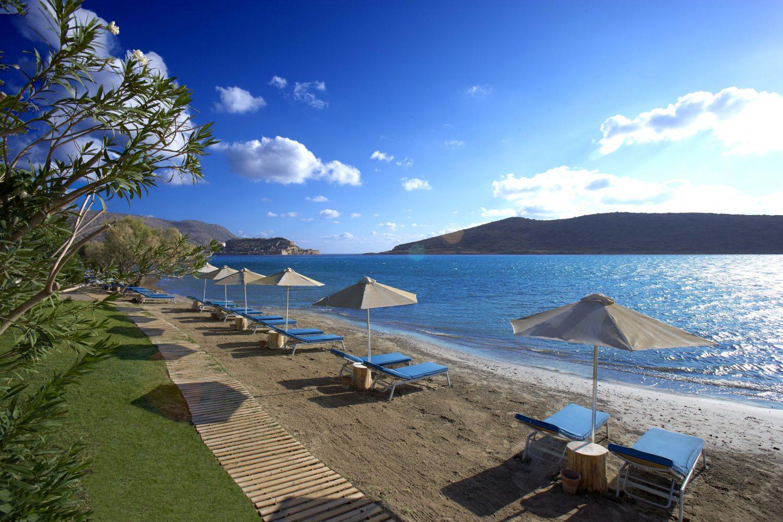 пляж отеля Domes of Elounda