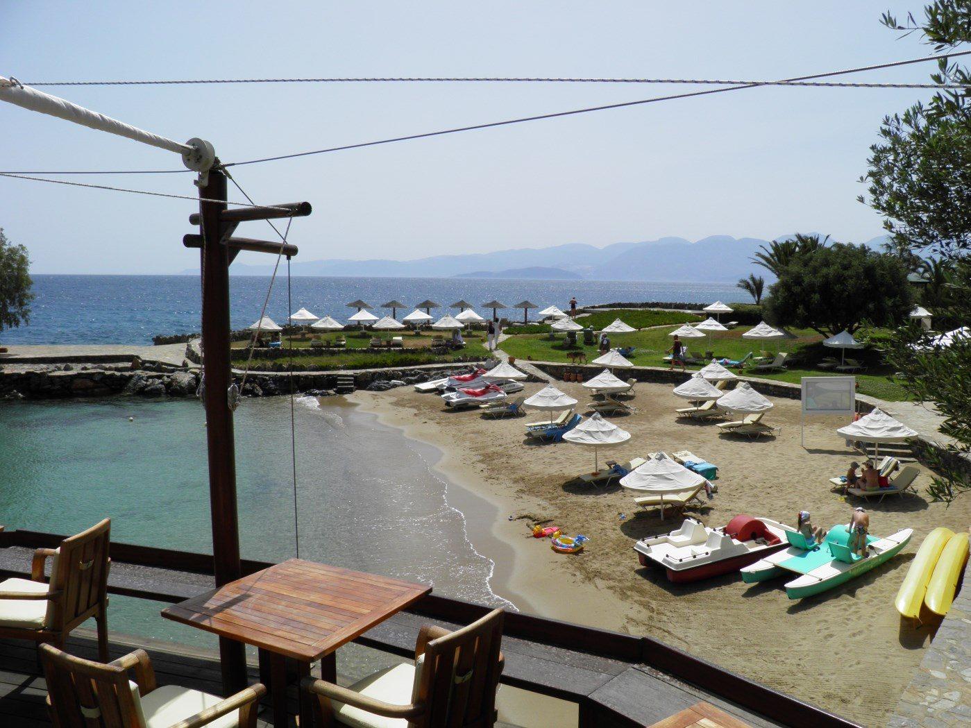 пляж отеля Elounda Mare Relais & Châteaux