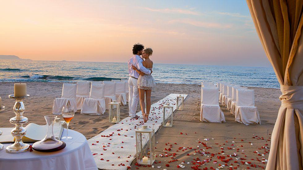 свадьба в отеле Grecotel Amirandes