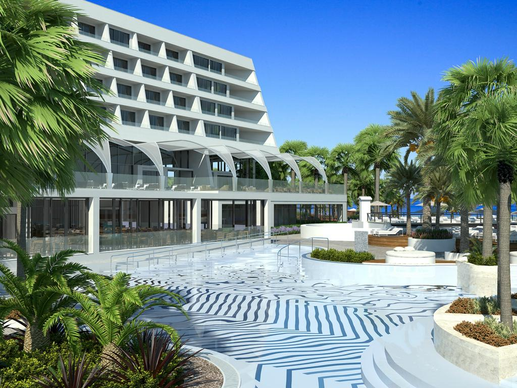 территория отеля Le Meridien Limassol Spa & Resort