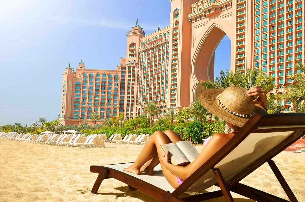 пляж отеля Atlantis The Palm