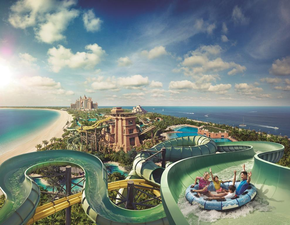 водные горки отеля Atlantis The Palm