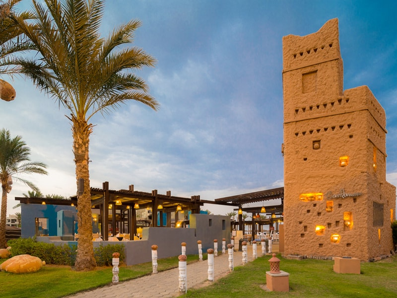 территория отеля Port Ghalib Resort