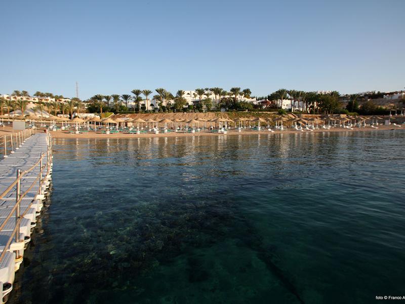 пляж отеля Domina Coral Bay Aquamarine Hotel & Resort
