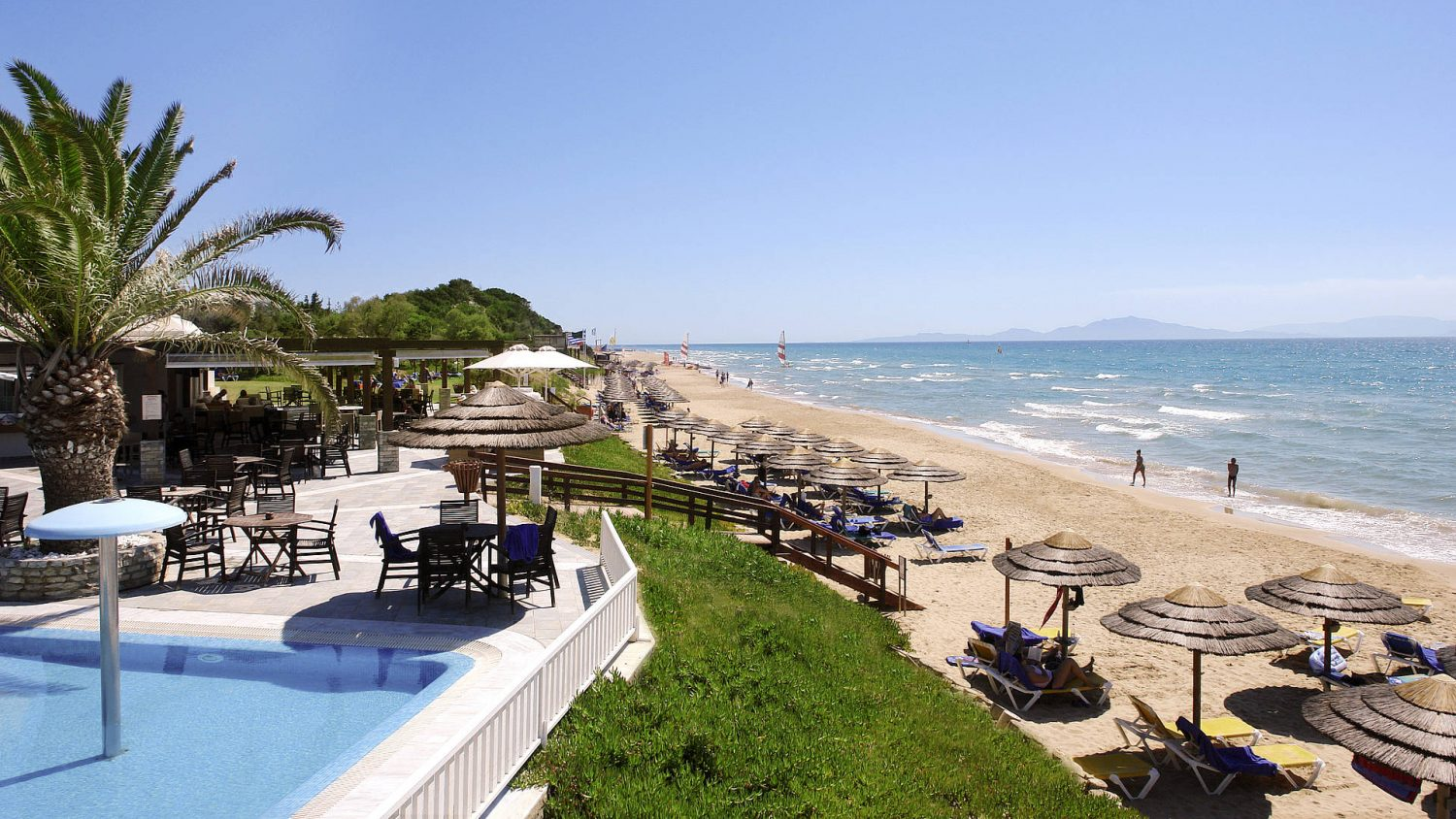 пляж отеля Robinson Club Kyllini Beach