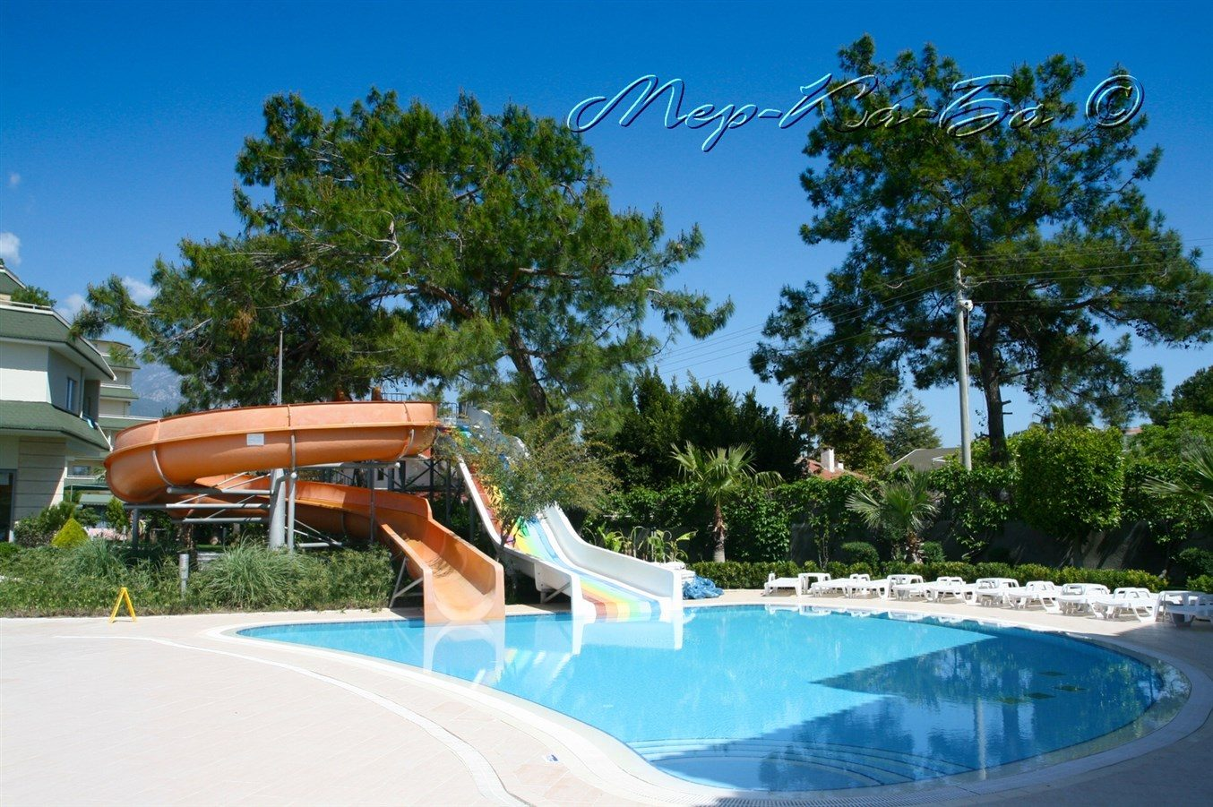 водные горки отеля Queen's Park Tekirova Resort & Spa