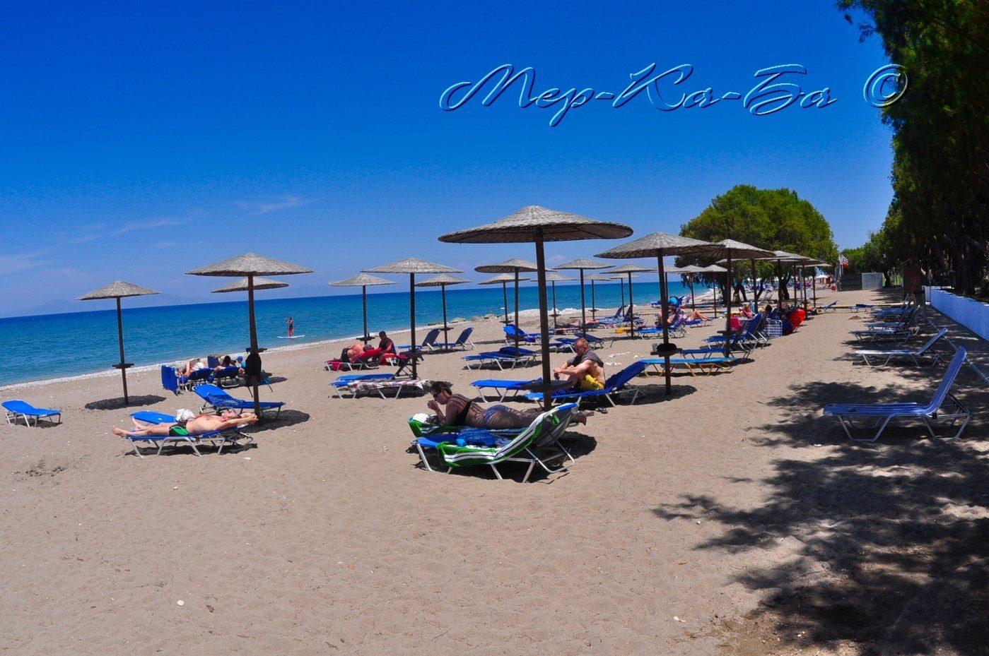 пляж отеля Alex Beach Hotel – Bungalows