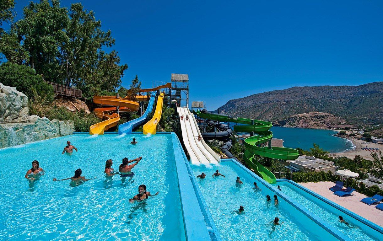 аквапарк отеля Fodele Beach Hotel