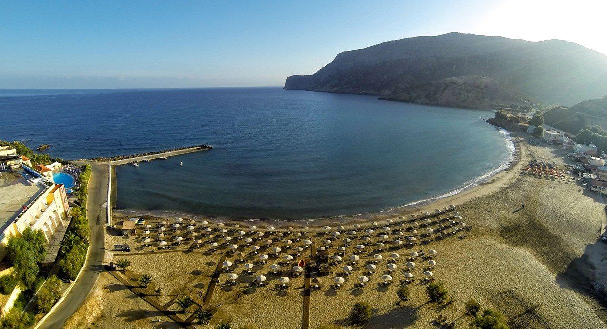 пляж отеля Fodele Beach Hotel