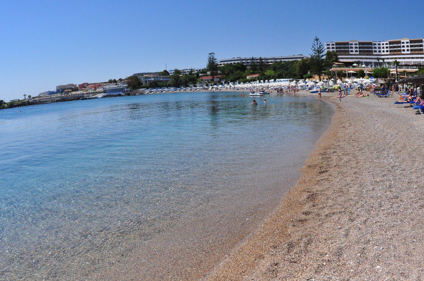 пляж отеля Eden Roc