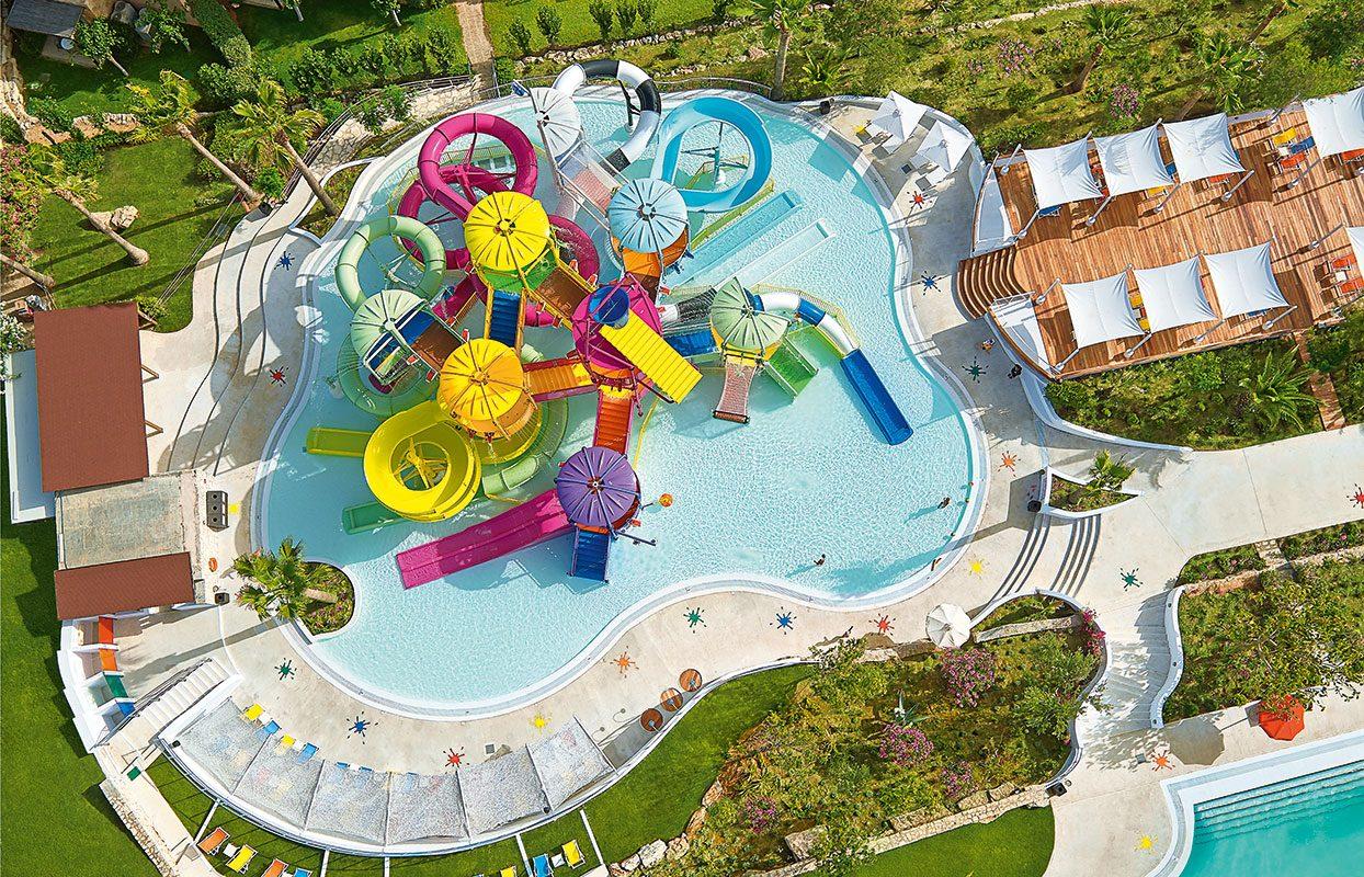 аквапарк отеля Grecotel Marine Palace Suites