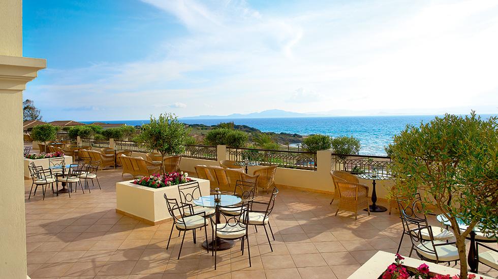 терраса отеля Grecotel Olympia Oasis & Aqua Park