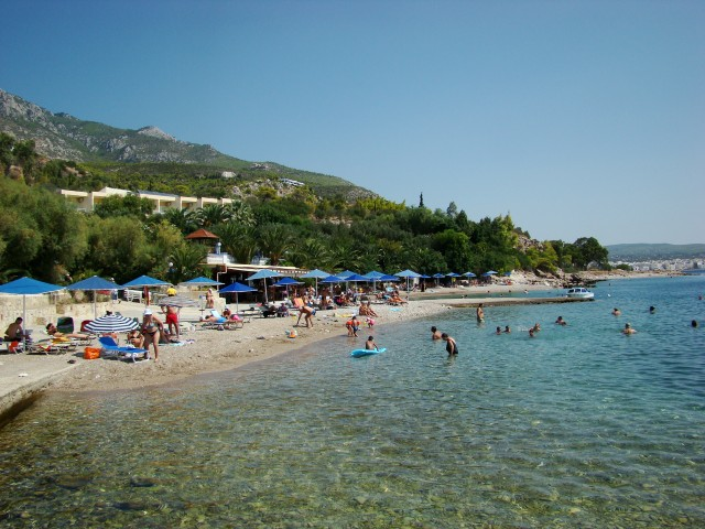 пляж отеля Pappas