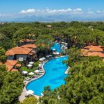 бассейн и бунгало отеля Papillon Ayscha Hotels Resort & Spa