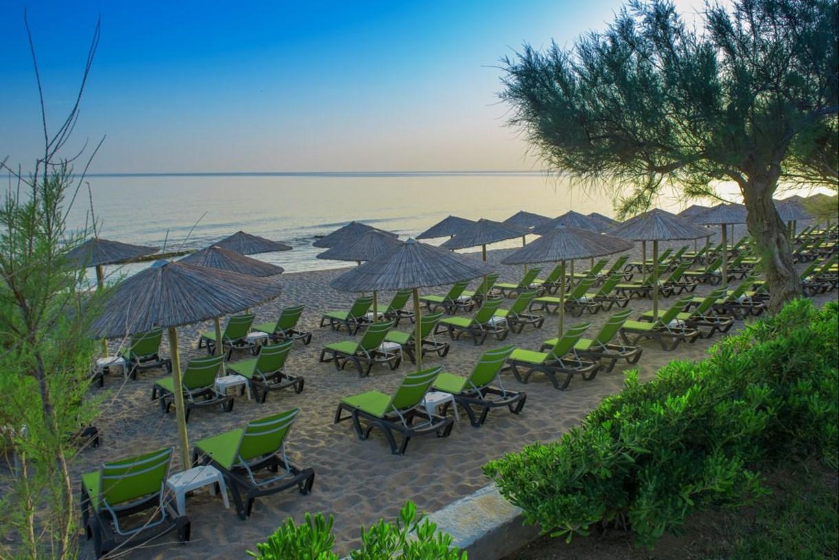пляж отеля Rethymno Palace