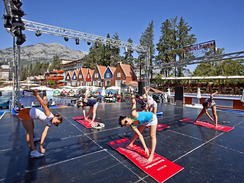 спортивные мероприятия отеля Orange County Resort Kemer
