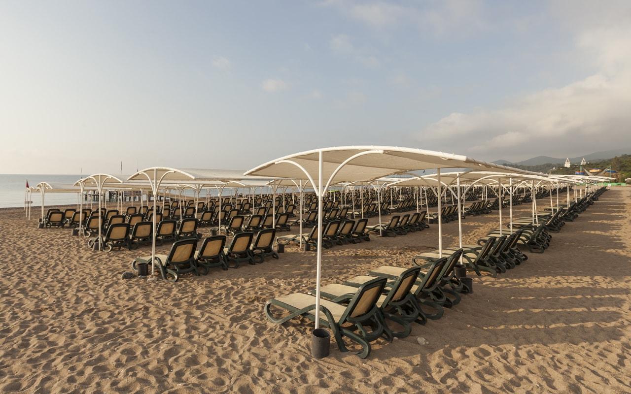 пляж отеля Club Hotel Phaselis Rose