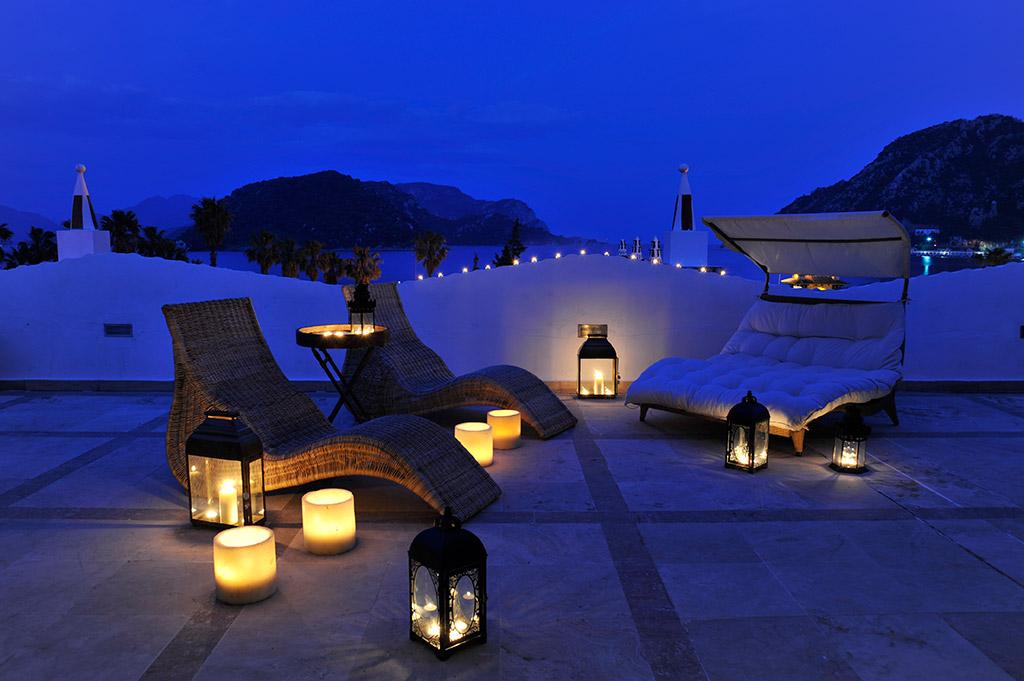 зона отдыха отеля Marti Resort