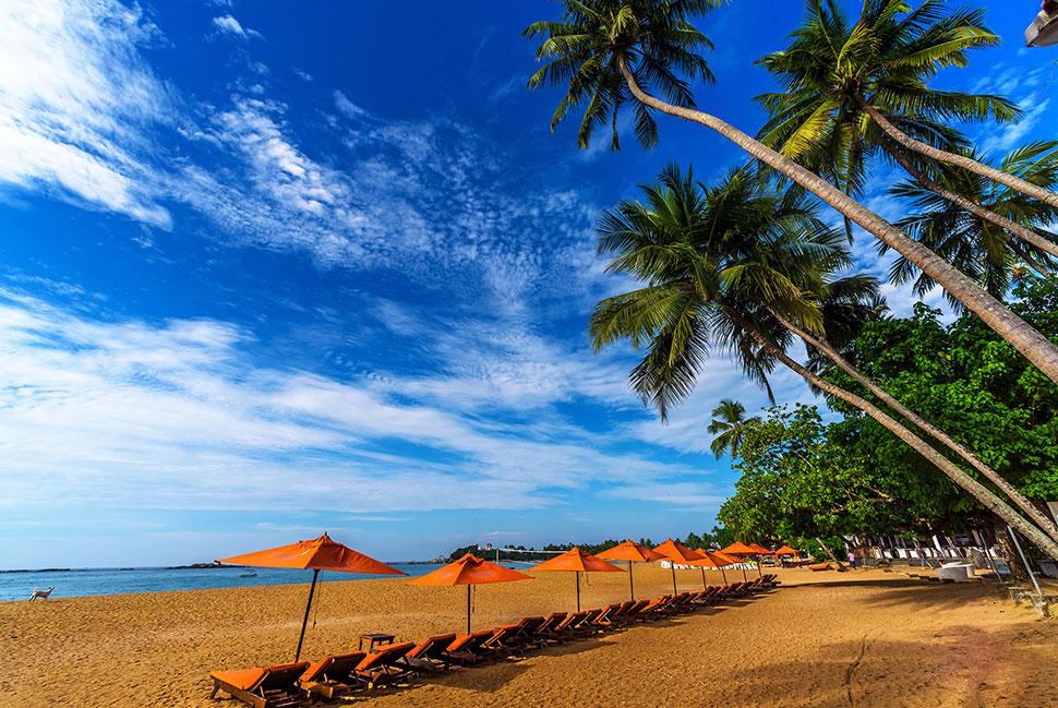 пляж отеля Calamander Unawatuna Beach