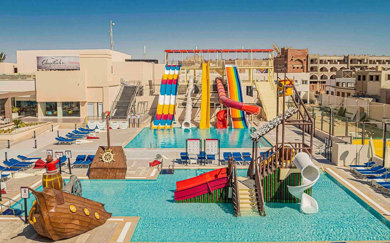 водные горки отеля Amarina Abu Soma Resort & Aquapark